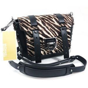 Michael Kors Zebra print Leather Messenger Bag